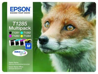 Картридж Epson набор T1285 Black/Cyan / Magenta / Yellow - Черный/Зеленовато - голубой / Пурпурный / Желтый (C13T12854010)