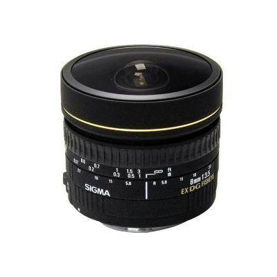 Объектив для фотоаппарата Sigma для Nikon AF 8mm f/3.5 ex dg fisheye circular Nikon F (ГТ Sigma)