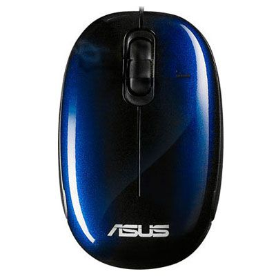 Мышь проводная ASUS Seashell Optical USB Blue 90-XB0800MU000B0-