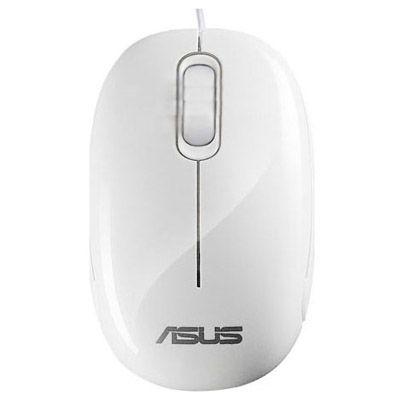 Мышь проводная ASUS Seashell Optical USB White 90-XB0800MU00090-