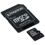 Карта памяти Kingston 8GB micro Secure Digital Card + adapter for sd Card SDC4/8GB