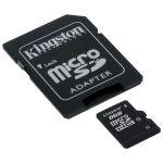 Карта памяти Kingston 8GB micro Secure Digital Card + adapter for sd Card SDC4/8GB
