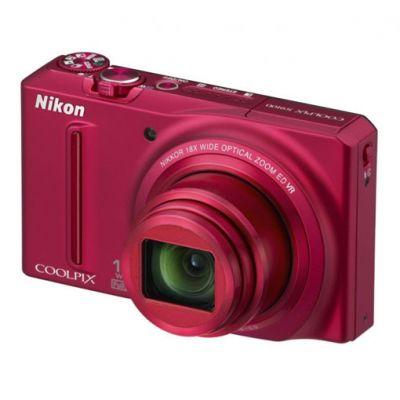 Зеркальный фотоаппарат Nikon coolpix S9100 Red (ГТ Nikon)