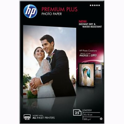 ��������� �������� HP Premium Plus Glossy Photo Paper 25 shts, 10x15 CR677A