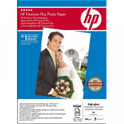 Расходный материал HP Premium Plus High-gloss Photo Paper 280 g/m?-A4/210 x 297 mm/20 sht C6832A