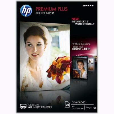 Расходный материал HP Premium Plus Semi-gloss Photo Paper-20 sht/A4/210 x 297 mm CR673A