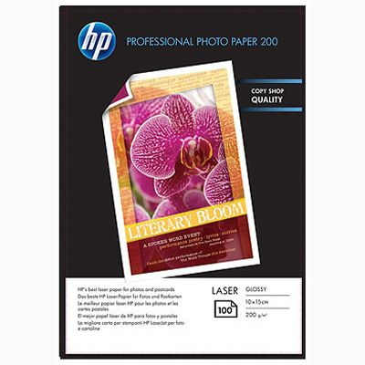 ��������� �������� HP Professional Glossy Laser Photo Paper 200 gsm-100 sht/10 x 15 cm CG970A