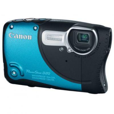 Компактный фотоаппарат Canon PowerShot D20 Blue 6145B002