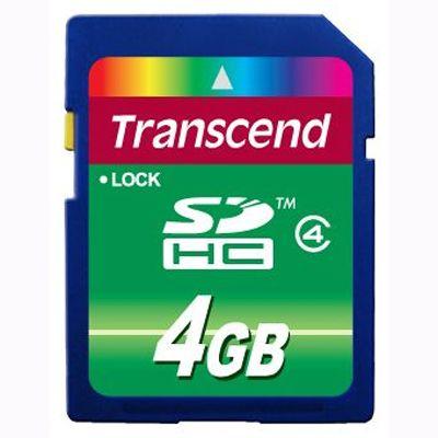 Карта памяти Transcend 4Gb sdhc class 4 TS4GSDHC4