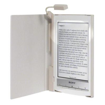 Чехол Sony стандартный для электронной книги PRS-T1 (White) + фонарик PRSA-CL10/W