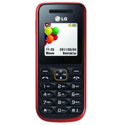 Телефон, LG A100 Red (Красный)