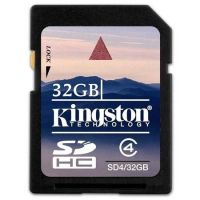Карта памяти Kingston 32GB sdhc Class 4 SD4/32GB