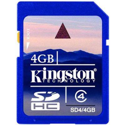Карта памяти Kingston 4GB sdhc Class 4 SD4/4GB