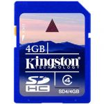 Карта памяти Kingston 4GB sdhc Class 4 SD4/4GB
