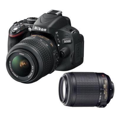 Зеркальный фотоаппарат Nikon D5100 Kit dx 18-55mm vr + 55-200mm vr (ГТ Nikon)