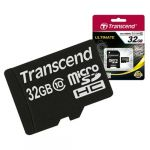 Карта памяти Transcend 32GB microSDHC Class 10 с адаптером sd TS32GUSDHC10
