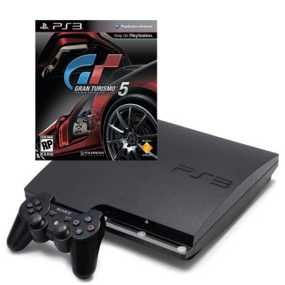 Игровая приставка Sony PlayStation3 320GB + GT5 plat + Dualshock 3 (PS3/320GB/GT5/Dualshock3)