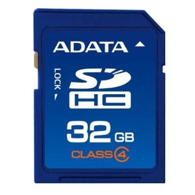 Карта памяти ADATA 32GB sd, sdhc Class 4 ASDH32GCL4-R