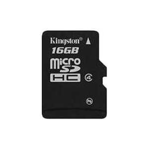 Карта памяти Kingston 16Gb microSDHC Class 4 SDC4/16GBSP
