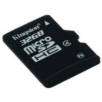 Карта памяти Kingston 32GB microSDHC Class 4 SDC4/32GBSP