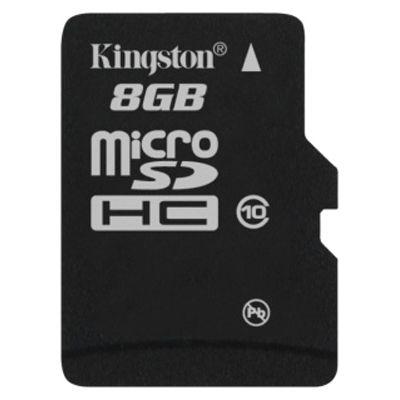 Карта памяти Kingston 8GB microSDHC Class 10 SDC10/8GBSP