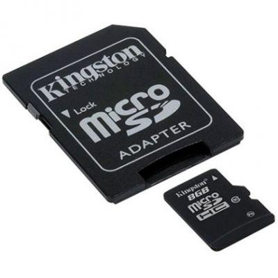 ����� ������ Kingston 8GB microSDHC Class 10 (SD �������) SDC10/8GB