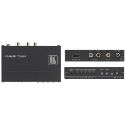 Масштабатор Kramer композитного видеосигнала и аудиосигнала в HDMI VP-410