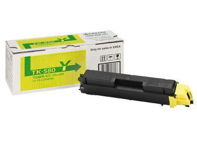 Тонер-картридж Kyocera Yellow/Желтый (TK-580Y)