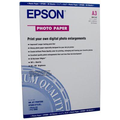 Расходный материал Epson Photo Paper А3 (20 листов) C13S041142