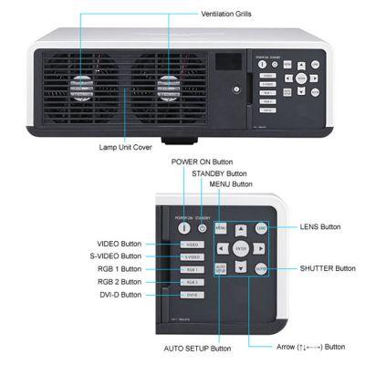 Проектор Panasonic PT-D6000ELK Чёрный (без линз)
