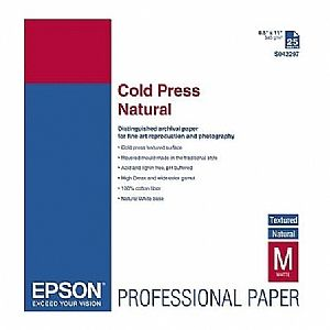 Расходный материал Epson Fine Art Paper Cold Press Natural A2 C13S042302