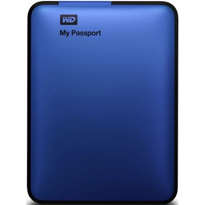 """������� ������� ���� Western Digital My Passport Essential 2.5"""" 500Gb USB 3.0 Blue WDBZZZ5000ABL-EEUE"""
