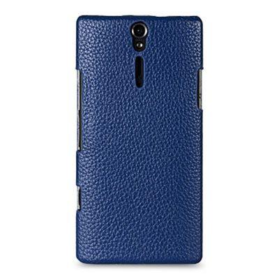 Чехол Melkco Jacka Type для Sony Xperia S – синий с белой полосой