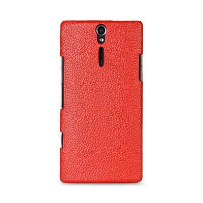 Чехол Melkco Jacka Type для Sony Xperia S – красный с белой полосой