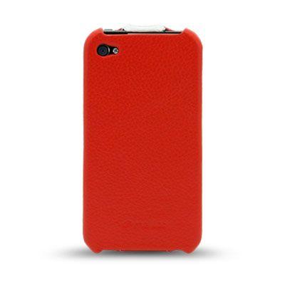 Чехол Melkco Jacka Type для Iphone 4s - красный с белой полосой