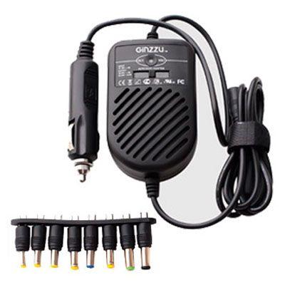 Ginzzu универсальный автомобильный адаптер GA-4090U (90W, 1хUSB, 15V-24V, 8 DC-IN переходников)