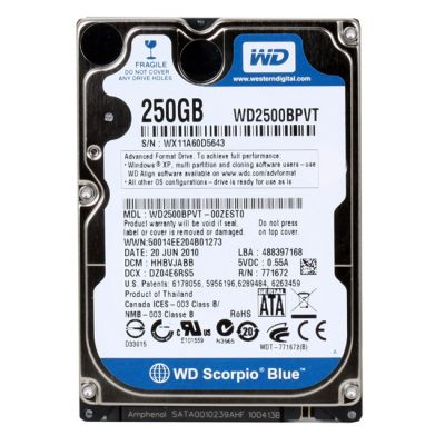 Жесткий диск Western Digital SATA 250GB Scorpio Blue WD2500BPVT