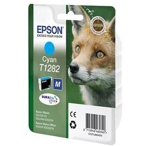 Картридж Epson T1282 Cyan/Голубой (C13T12824011)