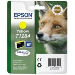 Картридж Epson T1284 Yellow/Желтый (C13T12844011)