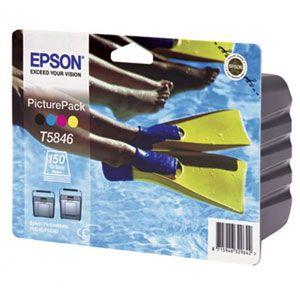 Расходный материал Epson Набор для печати на желтый, голубой, пурпурный, черный+ 150 листов фотобумаги для PicturePack PM240/280 C13T58464010