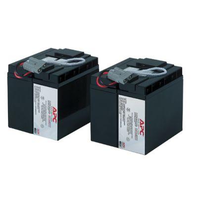 Аккумулятор APC Battery replacement kit for SUA48RMXLBP3U, SUA48XLBP, SUA5000RMI5U, SUA2200I, SUA3000I, SUA3000XLI, SUA2200XLI (состоит из 2 батарей) RBC55