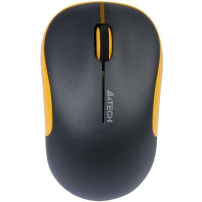 Мышь беспроводная A4Tech G9-330H-3 Black-Yellow USB