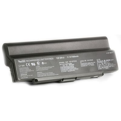 Аккумулятор TopON для Sony VAIO VGN-CR VGN-AR VGN-NR VGN-SZ6 Series 7800mAh TOP-BPL9-NOCD