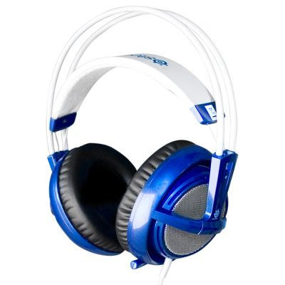 Наушники с микрофоном SteelSeries Siberia v2 full-size headset Blue (51107)