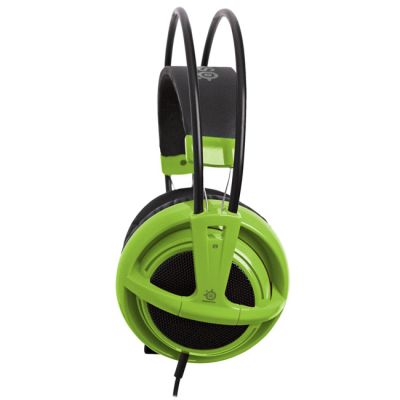 Наушники с микрофоном SteelSeries Siberia v2 full-size headset Green (51120)
