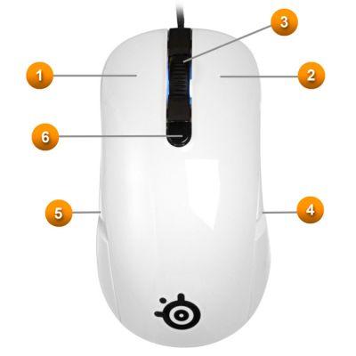 Мышь SteelSeries kana белая (62029)