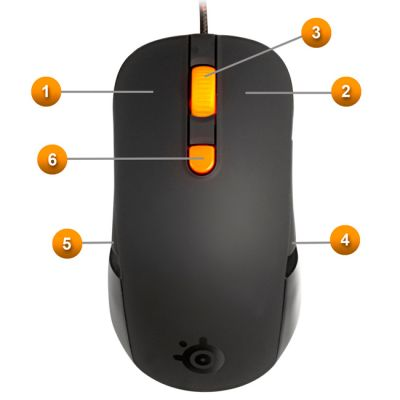 Мышь SteelSeries kana черная (62030)