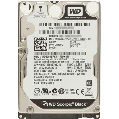 ������� ���� Western Digital Scorpio Black 500GB 7200RPM 16MB SATA-II 300 Mobile WD5000BPKT