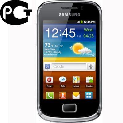 Смартфон, Samsung Galaxy mini II GT-S6500 Yellow Black