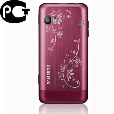 Смартфон, Samsung Wave 723 GT-S7230 La Fleur Garnet Red